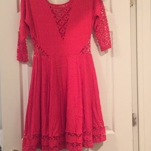 Free People Coral Flare Dress